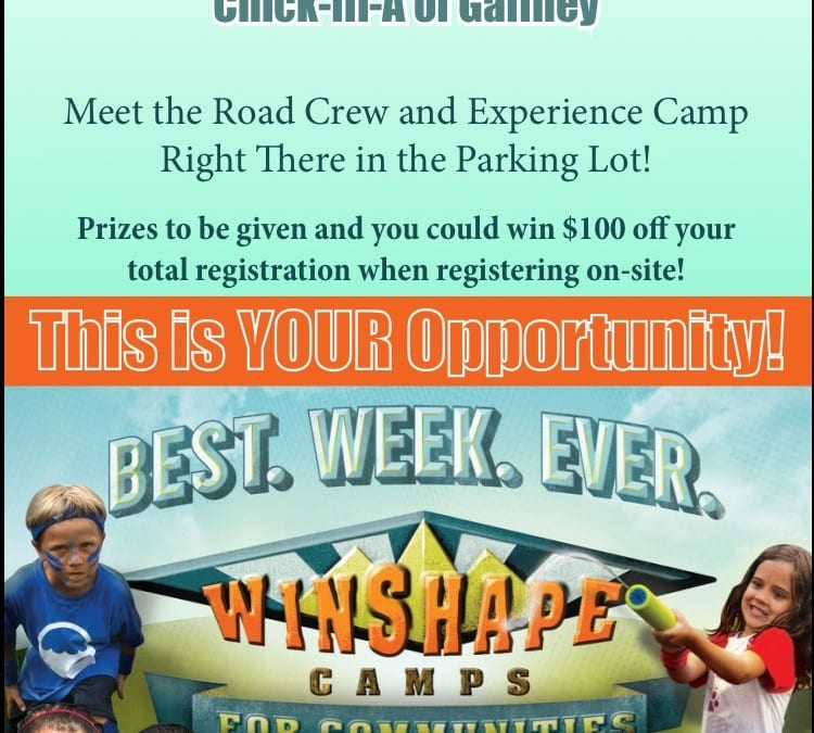 Winshape Camps Gaffney SC Kick-Off Event is THIS THURSDAY MARCH 5TH!